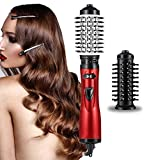 Hair Dryer Brush 3-in-1 Hot Air Brush Negative Ion Hair Straightener for Styling & Frizz Auto-Rotating Curling Brush Hair Dryer
