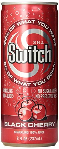 The Switch Sparkling Juice, Black Cherry, 8-Ounce Cans (Pack of 24) (The Switch Grape compare prices)