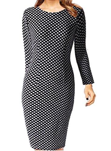 Femmes Coolred Imprimé Floral Taille Plus Courte À Manches Longues Robes De Club 11 L