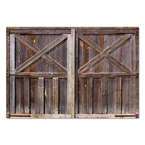 Large Wall Mural Sticker [ Rustic,Old Wooden Barn Door of Farmhouse Oak Countryside Village Board Rural Life Photo Print,Brown ] Self-Adhesive Vinyl Wallpaper/Removable Modern Decorating Wall Art For Sale
