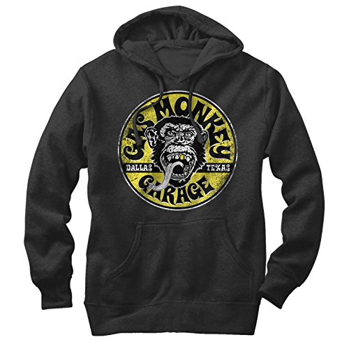 Fifth Sun Gas Monkey Men's Logo Circle Black Hoodie