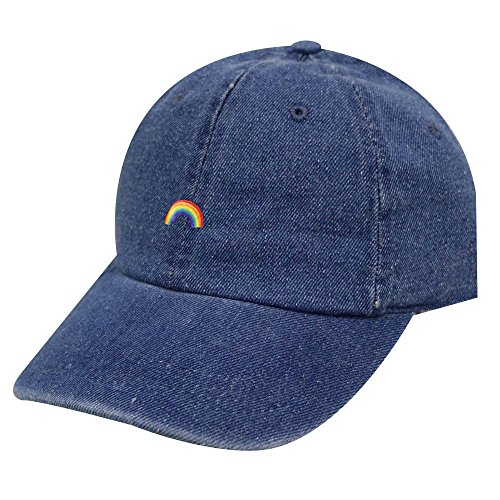 City Hunter C104 Rainbow Cotton Baseball Cap 12 Colors (Denim) (Rainbow Denim)