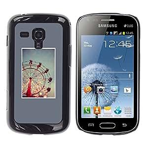 LECELL--Funda protectora / Cubierta / Piel For Samsung Galaxy S Duos S7562 -- Wheel Blue Minimalist Night Lights --