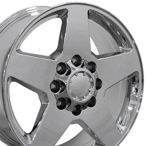 20x8.5 Wheel Fits Chevy Truck - Silverado Style Chrome Rim, Hollander 5503 - SET (Rims Truck Chrome)