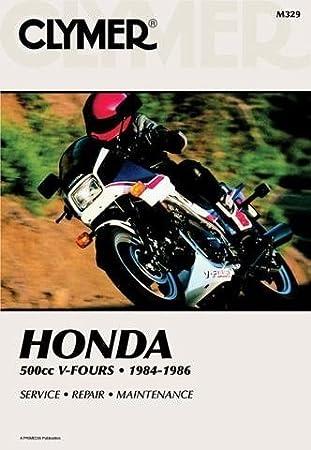 Clymer Repair Manual for Honda VF500 VF-500 V-Fours 1984-86 on