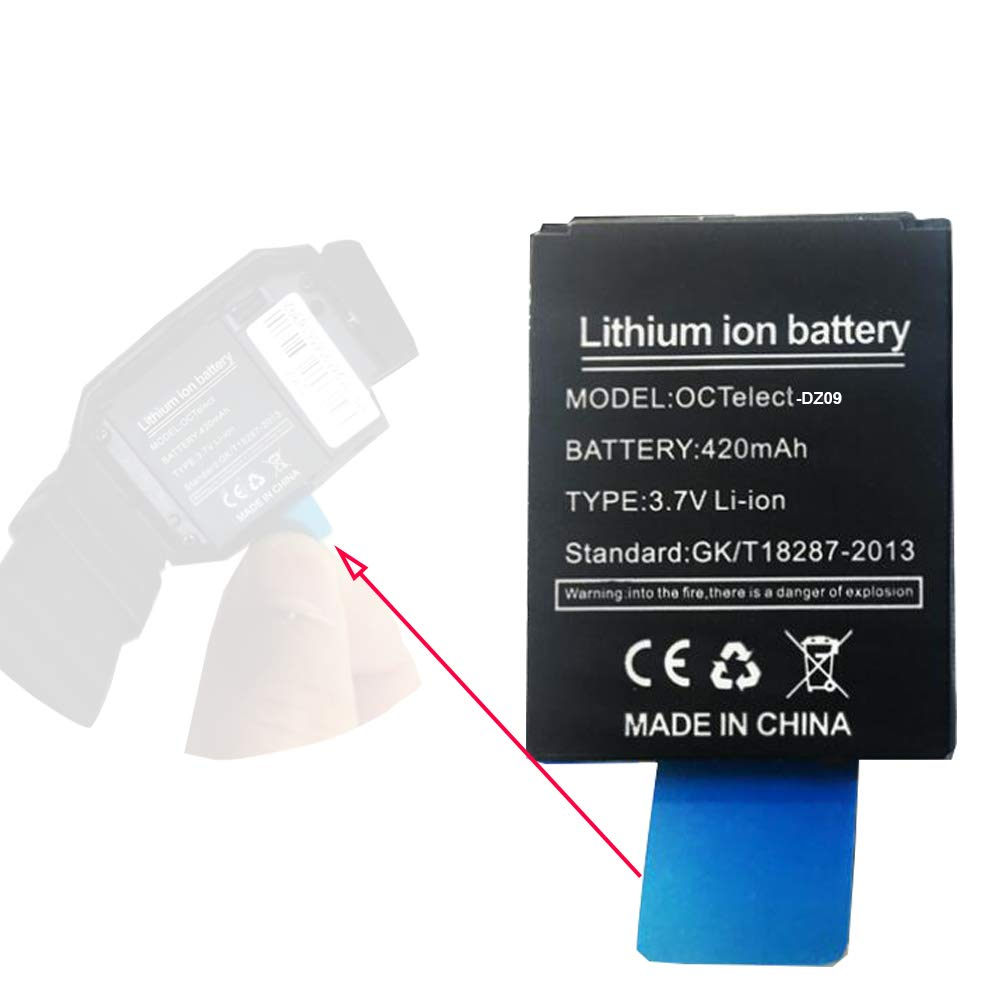 Smart Watch Battery DZ09 Rechargable Lithium Battery with 420MAH Capacity