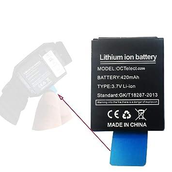 Reloj Inteligente Batería DZ09 Batería de Litio Recargable con Capacidad 420MAH: Amazon.es: Electrónica