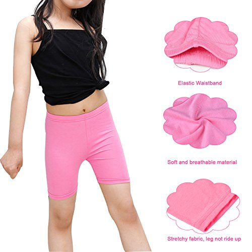 BOOPH Girls Dance Short, 5 Pack Assorted Color Bike Shorts for Girls 5-7 Year Old by BOOPH (Image #3)