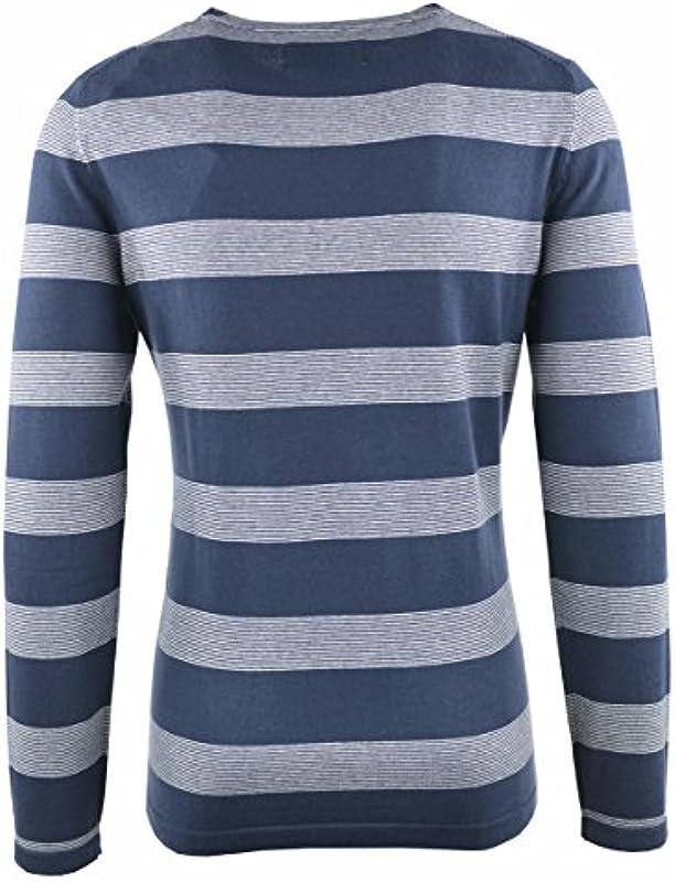 TOM TAILOR DENIM męski Different Striped Crewneck Pullover - xxl: Odzież