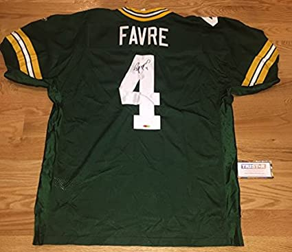 Amazon.com: Brett Favre Autographed Signed Pro NFL On Field Jersey ...