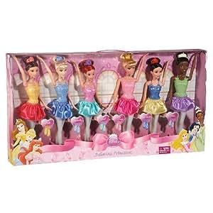 Disney Princess Ballerina 6-doll Playset