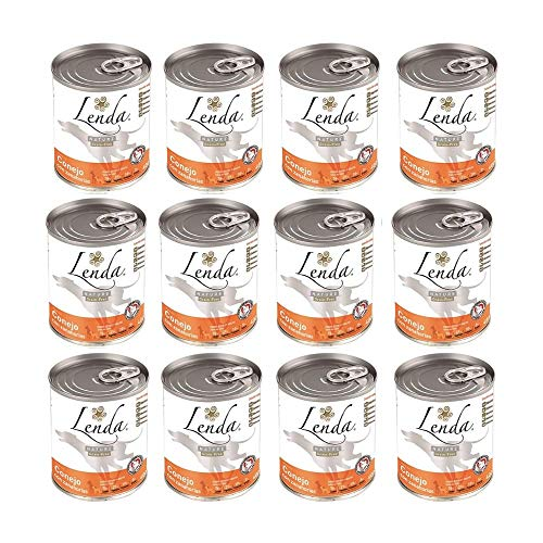 Lenda Nature Wet Food Conejo con Zanahorias – Paquete de 12 x 400 gr – Total: 4800 gr
