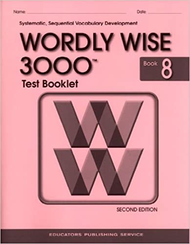 Amazon test booklet for wordly wise 3000 book 8 grade 8 test booklet for wordly wise 3000 book 8 grade 8 2nd edition fandeluxe Images