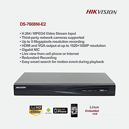 HIKVISION DS-7608NI-E2 NVR Network Video Recorder at amazon