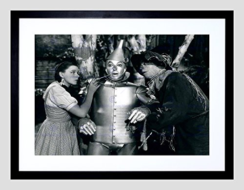 Movie Film Still Wizard OZ Garland BW Framed Art Print Poster F97X11954