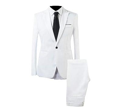 security - Traje - para Hombre Blanco Blanco US X-Large ...