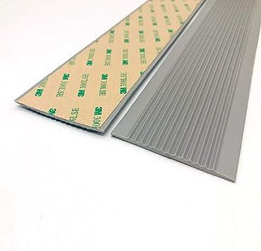 ZEYUE - 10 metros de cinta antideslizante de goma plana para escalera de PVC autoadhesiva, escalera, rampa, suelo pavimentado, tira antideslizante para escalera, protección angular, gris: Amazon.es: Bricolaje y herramientas