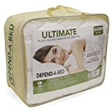 Classic Brands Defend-A-Bed Ultimate Extra Plush Double Thick Bamboo-Rayon Fitted Waterproof Mattress Topper, Queen Size