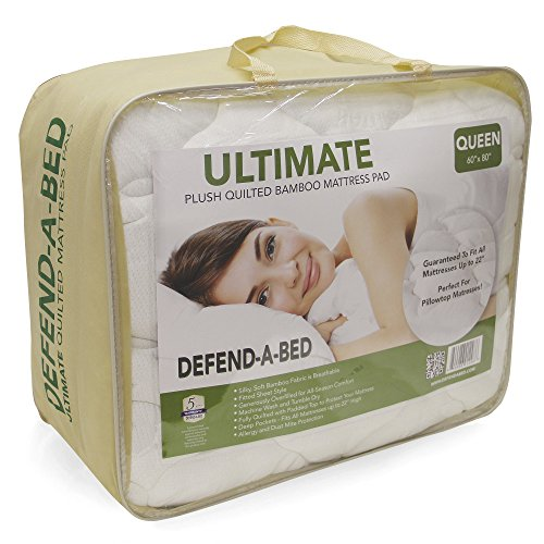 (Classic Brands Defend-A-Bed Ultimate Bamboo-Rayon Quilted Waterproof Mattress Protector, Twin)