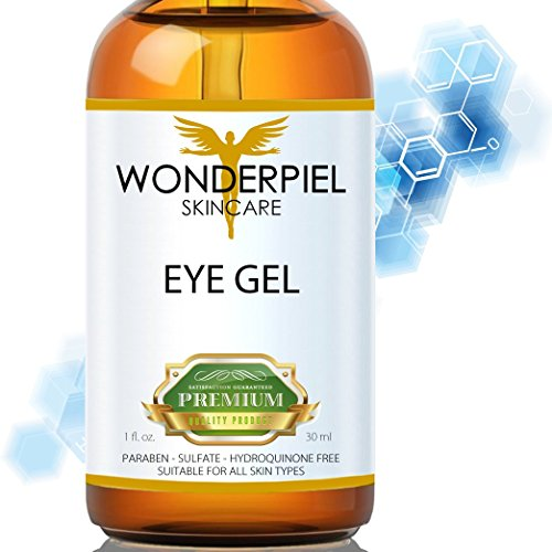 WONDERPIEL EYE CREAM for Dark Circles, Eye Puffiness and Bags, Wrinkles and Crow's Feet - Natural Anti Ageing Cream with Hyaluronic Acid, Vitamin C, Jojoba Oil and Vitamin E - VALUE PACK 30ML