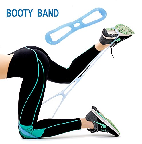 Booty Belt with Foot Loops for Booty Belt Jump Stretch and Booty Belts Resistance Workout Bands - Booty Kit Belt Targeted Program to Build Tone & Sculpt a Brazilian Butt Lift Booty Belt for Women