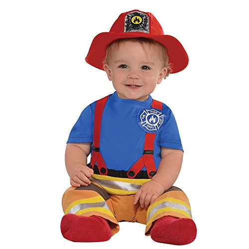 amscan Baby First Fireman Costume - 12-24 Months, Multicolor]()