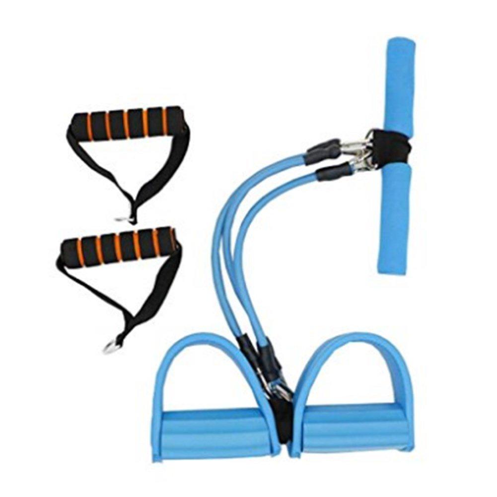 wendywu多機能脚Exerciser Abdominalカールボディ建物テンションロープフィットネス機器 B072WN16RF  ブルー