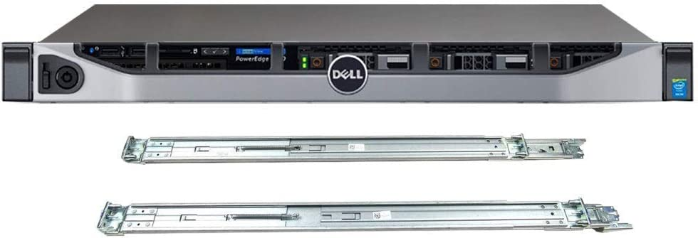 Dell PowerEdge R630 Server Bundle with 2 x Intel Xeon E5-2620 v4 8-Core 2.1GHz CPU, 64GB DDR4 RAM, 7.68TB SSD, RAID, Rail Kit (Renewed)