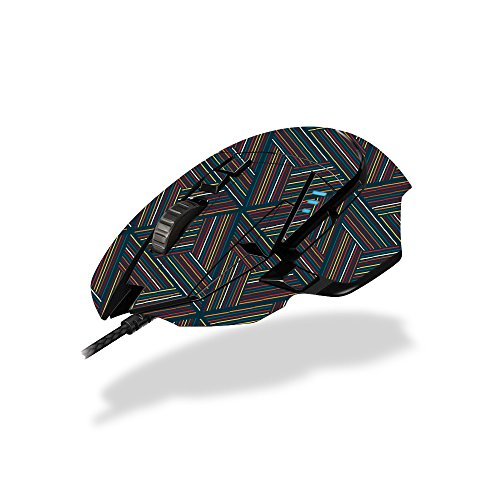 (MightySkins Skin for Logitech G502 Hero/Proteus Spectrum Gaming Mouse - Triangle Stripes | Protective, Durable, and Unique Decal wrap Cover | Easy to Apply | Made in The USA)