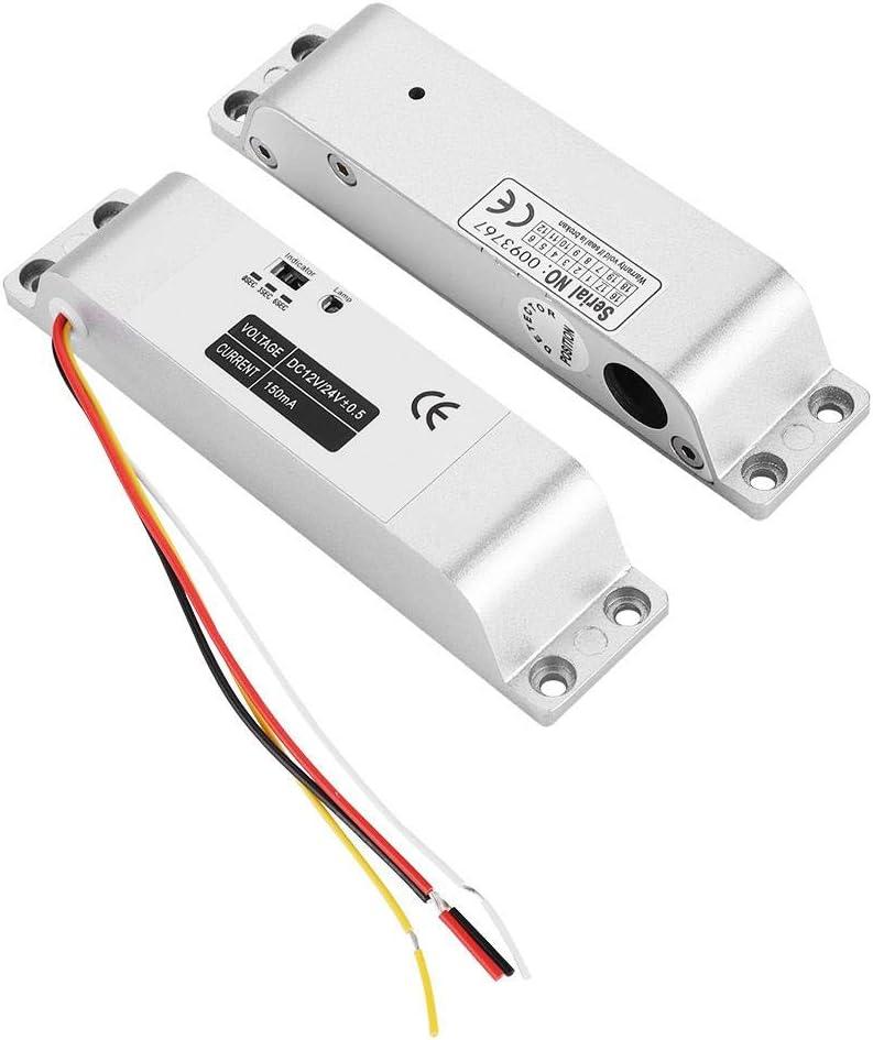Tosuny Cerradura electromagnética , DC12V 1000KG Cerradura eléctrica para Puertas correderas Puerta de Entrada Control de Acceso Cerradura de aleación de Aluminio Estructura del Cuerpo Cilindro