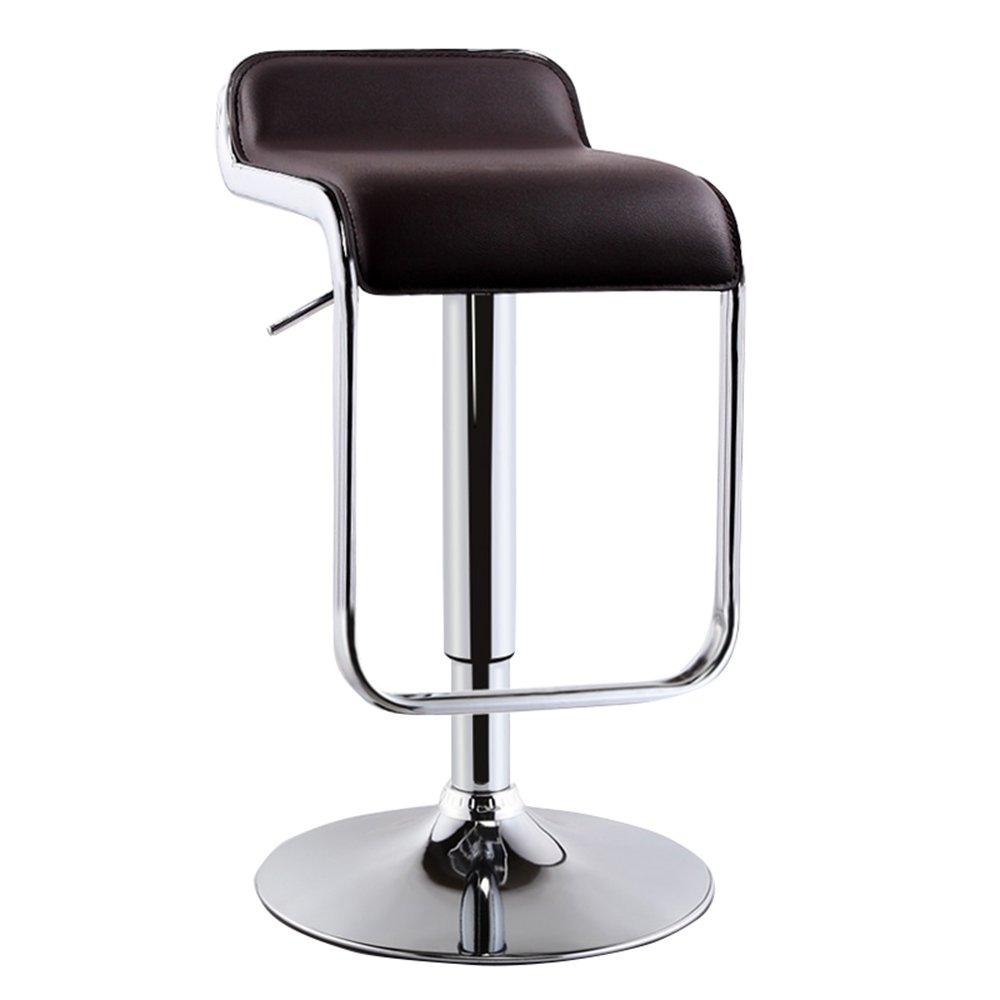 Black AAA Bar Chair, European Bar Stool Lifting high Stool redating Beauty Stool Back Swivel Chair 71-91 cm (color   bluee)