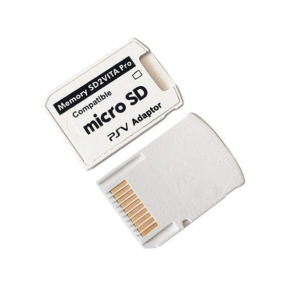 Kongqiabona Adaptador SD2VITA Versión 5.0 Adaptador SD2VITA para Tarjeta de Juego PS Vita Memoria para Tarjeta de Juego PSVita