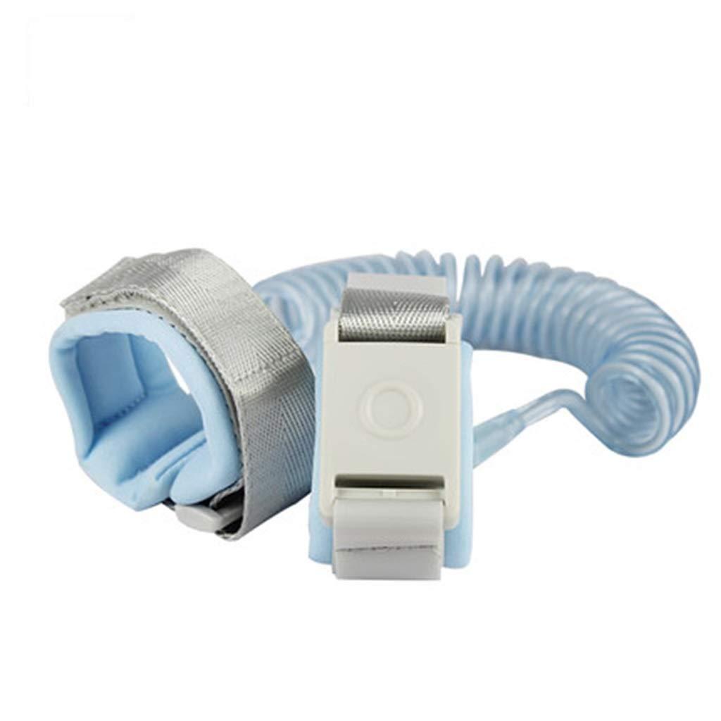 Anti Lost Safety Wrist Link Belt, Children Harness Belt Safety Adjustable Toddler Reins Safety Strap Leash Walking Hand Belt Elastic (Color : Blue)