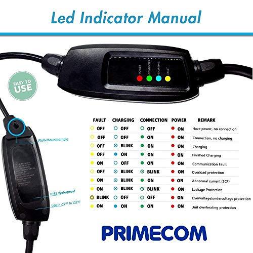 PRIMECOM Level-2 Electric Vehicle EV Charger 220 Volt 30', 35', 40', 50' FEET Lengths (14-30P, 35 Feet) by PRIMECOM (Image #5)