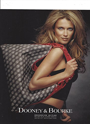 print-ad-with-veronica-varekova-for-2005-dooney-bourke-brown-logo-tote-bagsprint-ad