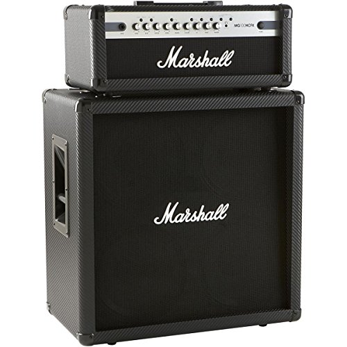 Marshall MG4 Carbon Series MG100HCFX Guitar Amplifier Head Bundle with Marshall MG4 Carbon Series MG412BCF 4x12 Guitar Amplifier Straight Cabinet