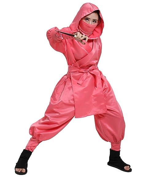 Cosplay.fm Womens Japanese Ninja Bushido Pink Cosplay Costume