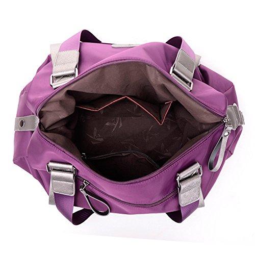 Nylon Ladies Tracolla Large Purple Borsa Trumpet Blue Borsa Linge in A H5xqAwOWU