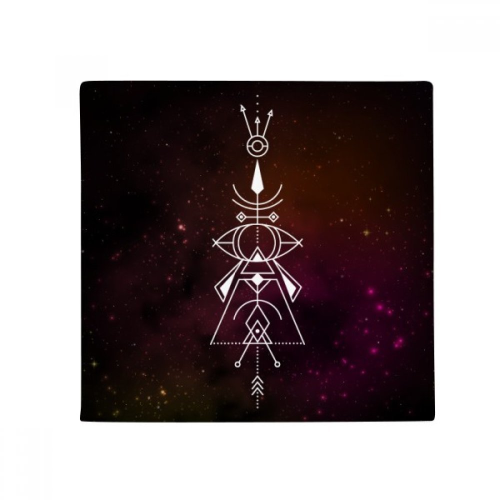 DIYthinker Universe Symbol Totem Pattern Geometry Anti-Slip Floor Pet Mat Square Home Kitchen Door 80Cm Gift