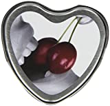 Earthly Body Edible Heart Candle, Cherry, 4 ounces Tin
