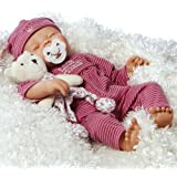 Paradise Galleries Little Princess Doll, Reborn Baby Girl, 17 inch Newborn in GentleTouch Vinyl & Weighted Body