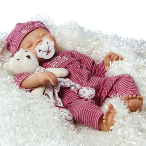 Paradise Galleries Lifelike Newborn Great to Reborn Baby Doll, Little Princess, Sleeping Girl Doll Crafted in Soft Vinyl and Weighted Body, 17 inch