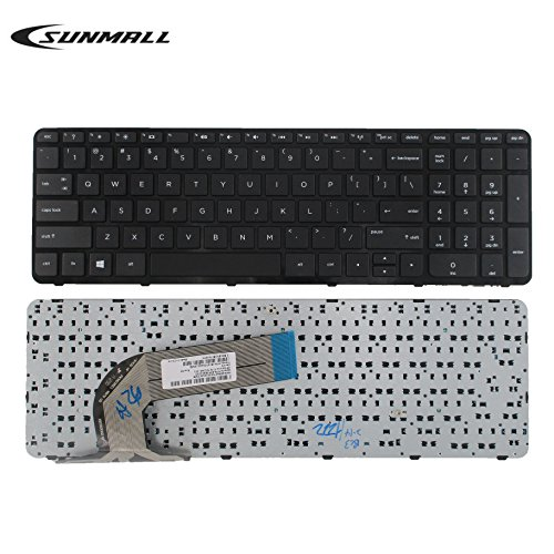 SUNMALL Keyboard Replacement with Frame for HP Pavilion 17-E 17-E000 17-e100 Serries Laptop Black US Layout(6 Months Warranty)