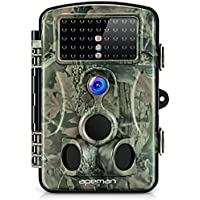 APEMAN Trail Camera 12MP 1080P Game&Hunting Camera with 120°Wide Angle 44 PCs IR LEDs Night Version up to 20M/65FT IP54 Spray Water Protected Design