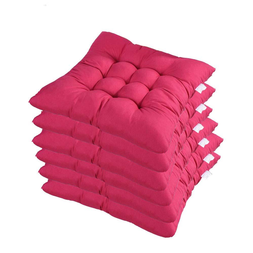 AGDLLYD Set di 6 Cuscino Sedia,Cuscini per Giardino Blu per Dentro e//o Fuori,40x40 cm,Disponibile in Tanti Colori Diversi,Cuscini per sedie da Giardino,Copri Sedia Cucina