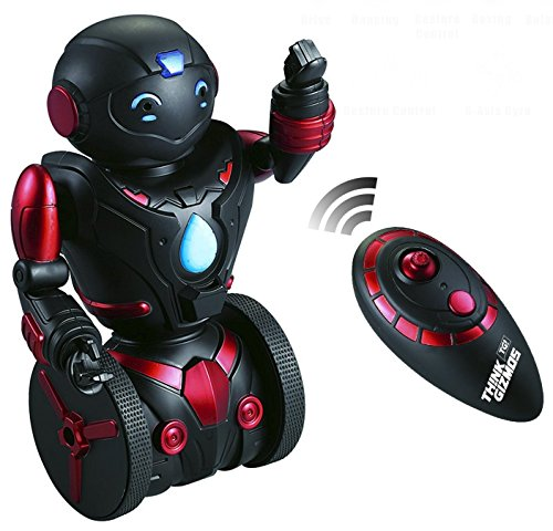 Remote Control Robot Toy for Kids TG634-R - Self Balancing Black & Red Robotic Toy (Version 2!!) – Smart Interactive RC Robot By ThinkGizmos (Trademark - Black Robot