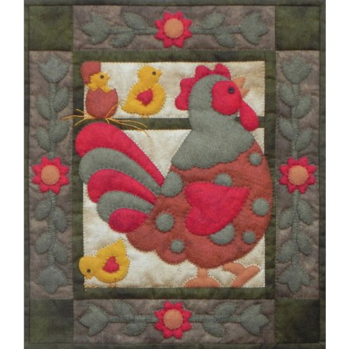 """Spotty Rooster Wall Quilt Kit-13""""X15"""