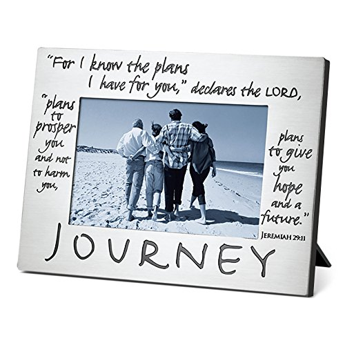 Christian Photo - Lighthouse Christian Products Classic Metal Journey Frame, 4 x 6