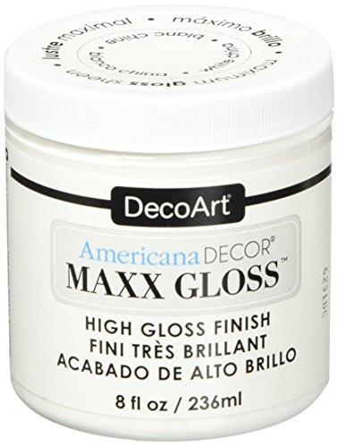 Deco Art Maxx Gloss Acrylic Paint, 8 oz, White China