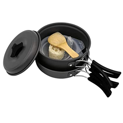 Outdoor Camping Cookware Set Portable Tableware Cooking For Camping Travel Cutlery Utensils Pot Pan Hiking Picnic Tools Outdoor Tablewares